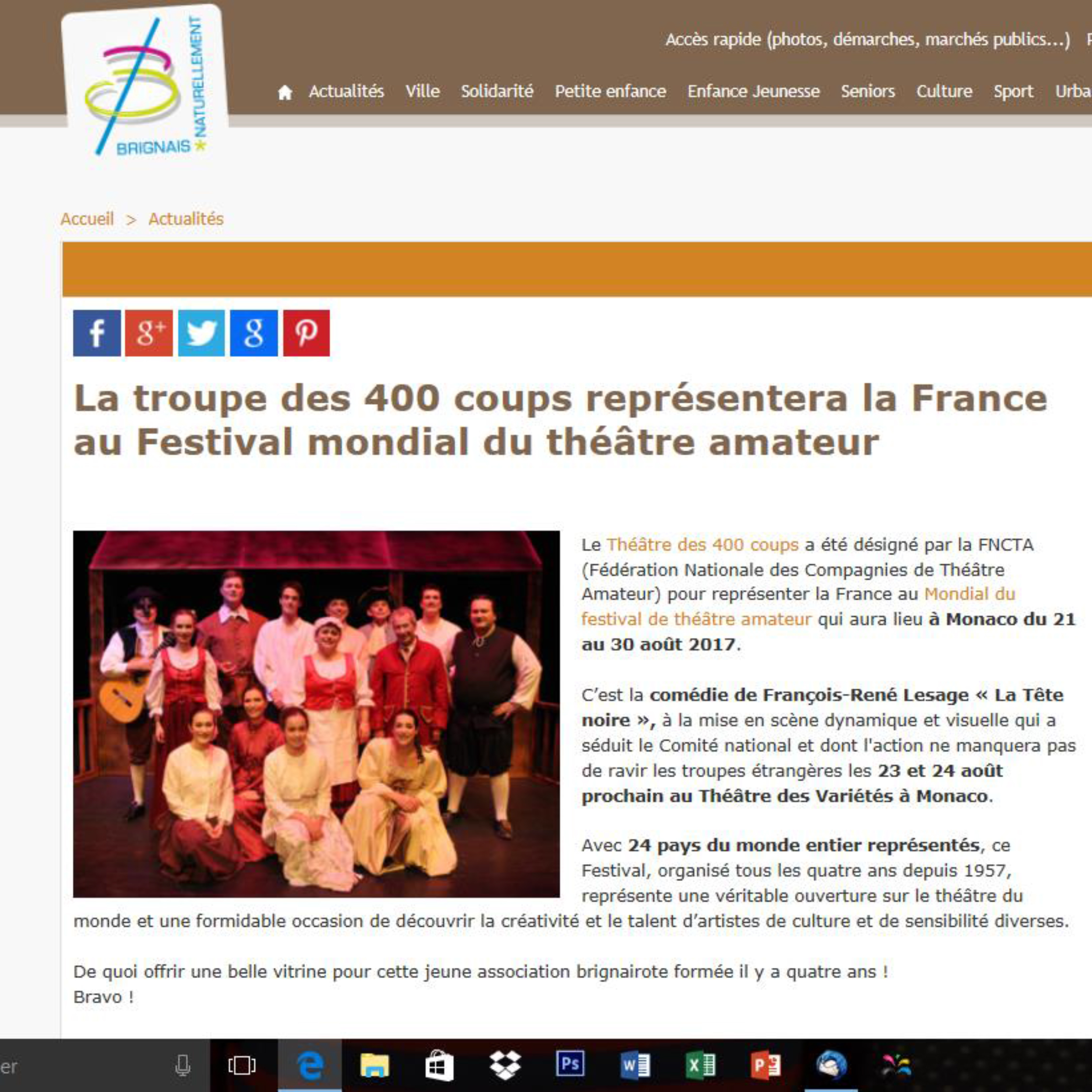 Article Ville de Brignais